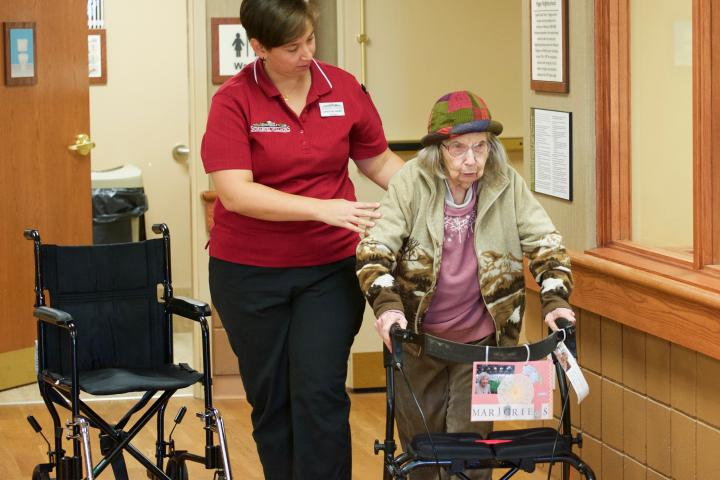 """The fact that we hire kinesiologists and team members that give residents the opportunity to stand up and walk across the room,"" fills Christine's days with pride."