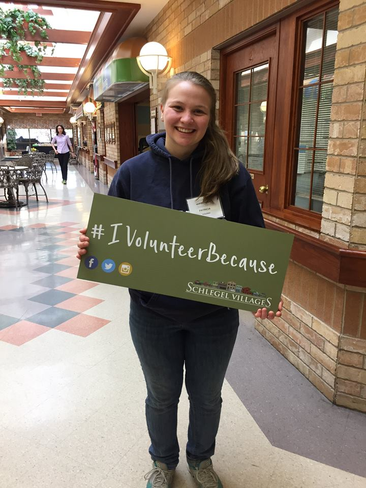 #IVolunteerBecause spending time with residents brightens my day at Tansley Woods