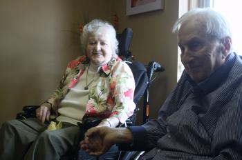 After 73 years of marriage, Doc and Mary Belle are grateful  they are able to be together in the Village of Winston Park.